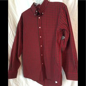 Red black and gold Lands End button down!
